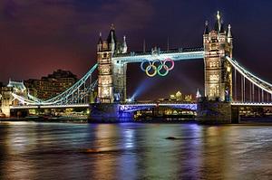 Tower Bridge tijdens de Olympische Spelen